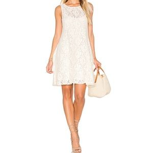 Free People Miles Of Lace Ivory Mini Dress